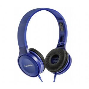 Ακουστικά Stereo Panasonic RP-HF100E-A με δυνατότητα Αναδίπλωσης και Μηχανισμό Περιστροφής Μπλε 5025232851003