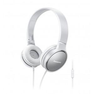 Ακουστικά Stereo Panasonic RP-HF300ME-W με Μικρόφωνο με Πλήκτρο Ελέγχου, δυνατότητα Αναδίπλωσης και Μηχανισμό Περιστροφής Άσπρα 5025232848898