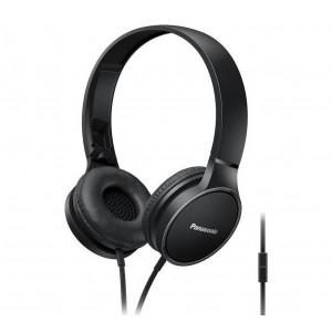Ακουστικά Stereo Panasonic RP-HF300ME-K με Μικρόφωνο, δυνατότητα Αναδίπλωσης και Μηχανισμό Περιστροφής Μαύρα 5025232846726