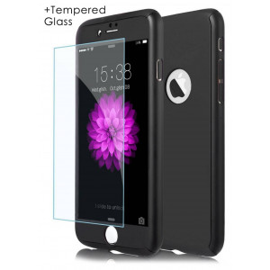 360 Protect Case Ancus for Apple iPhone 7 Plus Black with Tempered Glass Screen Protector 0.20mm 5210029056093