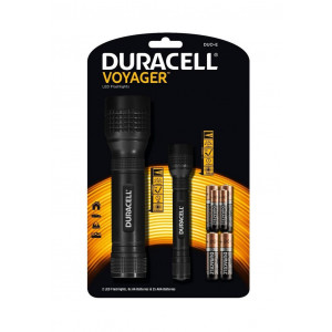 Φακοί Duracell Voyager DUO-E Led Μαύροι 70 / 50 Lumens 884620024437