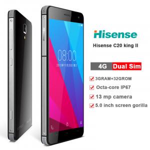 Hisense C20 4G LTE (Dual SIM) 5.0 Android 5.1 1280*720 IPS OGS Octa-Core 64bit 1.36 GHz 3GB/32GB Water-dust proof IP67 Black 6941785705626