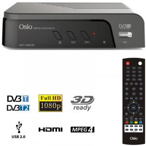 OSIO OST-7082FHD DVB-T/T2 FULL HD MPEG-4 USB 3D EΠIΓEIOΣ ΨHΦIAKOΣ ΔΕΚΤΗΣ