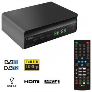 OSIO OST-7085FHD DVB-T/T2 FULL HD MPEG-4 USB EΠIΓEIOΣ ΨHΦIAKOΣ ΔΕΚΤΗΣ ΜΕ ΕΝΑ ΤΗΛΕΧΕΙΡΙΣΤΗΡΙΟ ΓΙΑ TV & ΔΕΚΤΗ