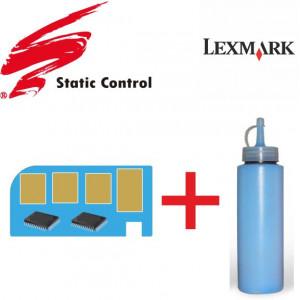 Γραφιτησ για Toner + CHIP - για Lexmark - C540 - CYAN