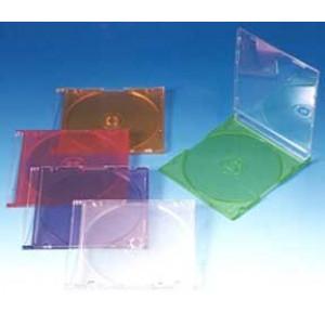 Θήκη λεπτή 5,2mm μονή σε ροζ χρώμα για cd/dvd