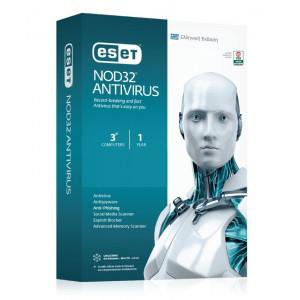 Eset Nod32 Antivirus v10 3 Licenses 1 Year ENA0G31Y
