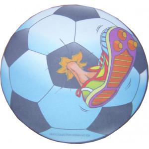 R.S CLOTH mouse Pad σε σχημα ποδοσφαιρικης μπαλας με ποδοσφαιρικο παπουτσι  220 X 220 X 3mm