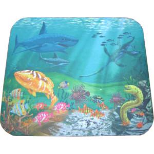 N.R CLOTH mouse Pad απεικονιζει την θαλασσα με τα  ψαρια.   230 X 180 X 3mm