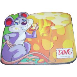 HARD PVC mouse Pad σε σχημα ποντικιου που τρωει τυρι   230 X 180 X 3mm