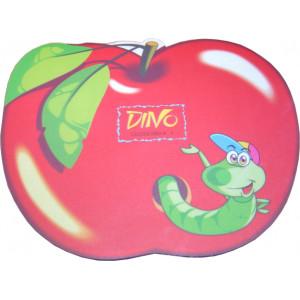 HARD PVC mouse Pad σε σχημα μηλου με εντομο 230 x 180 x 3mm