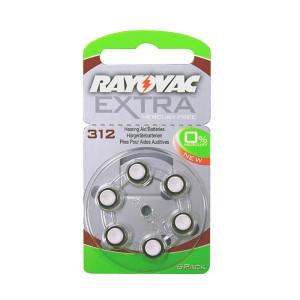 Rayovac extra mercury free μπαταριες ακουστικων βαρηκοϊας 1,45V, 6τεμ.