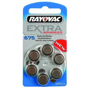 Rayovac extra mercury free μπαταριες ακουστικων βαρηκοϊας 1,45V, 6τεμ