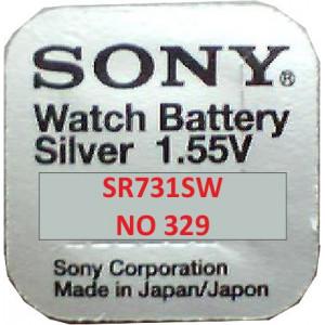SONY Μπαταρια λιθιου για ρολογια 1,55V No329 10τεμ.
