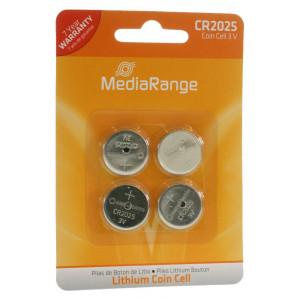 MediaRange Μπαταρια λιθιου 3v  CR2025 - Συσ.4 τεμ.