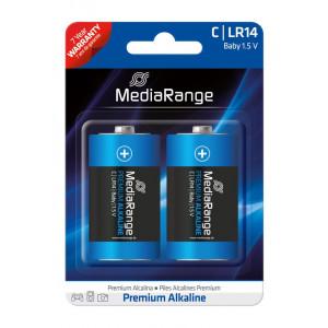 MediaRange Premium αλκαλική μπαταρία μωρό C | LR14 1.5V Pack 2