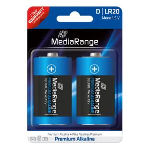 MediaRange Premium αλκαλικη μπαταρια D Mono | LR20 1.5V Pack 2 μ.