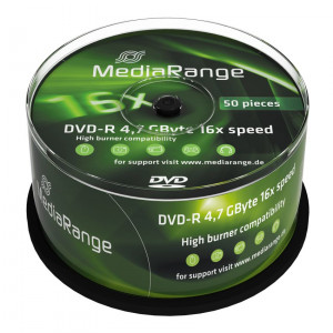 MediaRange DVD-R 4,7 GB 16x Cake50