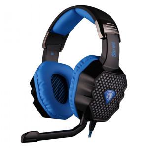 SADES Gaming headset USB - 7.1CH (Skynet), 50mm ακουστικά