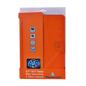 POWERTECH Universal θήκη και βάση για Tablet 9.7-10.1 inch, Orange