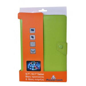 POWERTECH Universal θήκη και βάση για Tablet 9.7-10.1 inch,Green