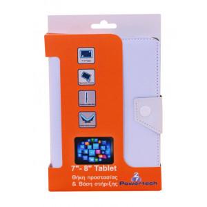 POWERTECH Universal θηκη και βαση για Tablet 7-8 inch, White