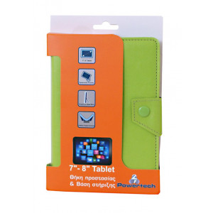 POWERTECH Universal θηκη και βαση για Tablet 7-8 inch, Green