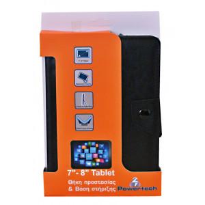 POWERTECH Universal θηκη και βαση για Tablet 7-8 inch - BLACK