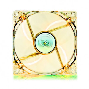 DEEP COOL ανεμιστήρας 120mm, Διάφανος, Yellow LED   (Υψηλής ποιότητας & αθόρυβο )