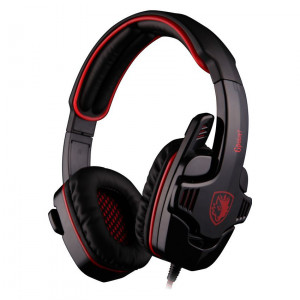 SADES Gaming headset (Gpower) - RED - με 40mm πανισχυρα ακουστικα