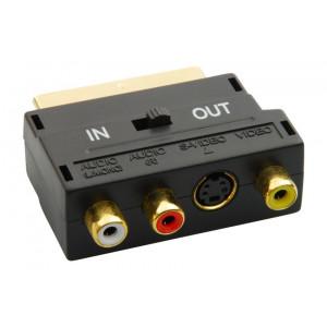 Powertech μετατροπεας Scart 21pin 3 RCA