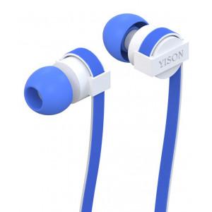 YISON ακουστικά HANDSFREE + RΕΜΟΤΕ (ON/OFF) - BLUE