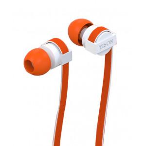 YISON ακουστικά HANDSFREE + RΕΜΟΤΕ (ON/OFF) - ORANGE
