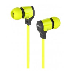 YISON ακουστικά HANDSFREE + VOLUME CONTROL (ON/OFF) - GREEN