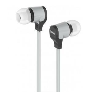 YISON ακουστικά HANDSFREE + VOLUME CONTROL (ON/OFF) - GRAY
