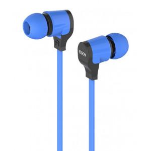 YISON ακουστικά HANDSFREE + VOLUME CONTROL (ON/OFF) - BLUE