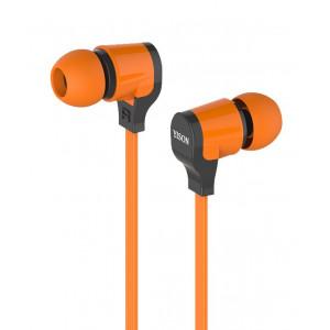 YISON ακουστικά HANDSFREE + VOLUME CONTROL (ON/OFF) - ORANGE