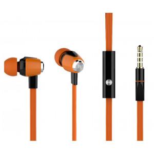 CELEBRAT ακουστικά HANDSFREE (ON/OFF) Plastic+TPE - ORANGE