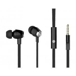 CELEBRAT ακουστικα HANDSFREE (ON/OFF) Plastic+TPE - BLACK