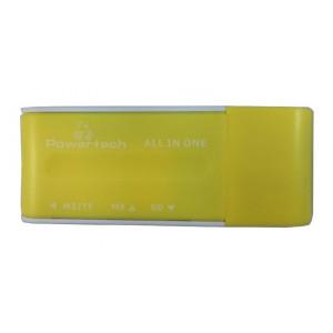 POWERTECH Mini Card Reader, Yellow