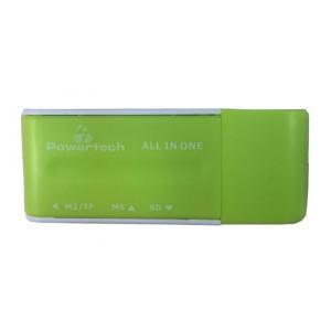POWERTECH Mini Card Reader, Green