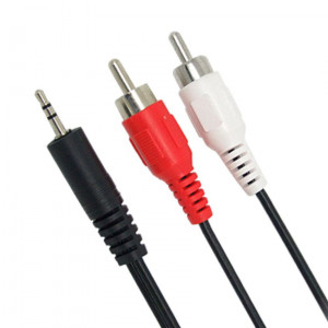 Powertech καλωδιο 2 x RCA Male / Jack 3,5mm Male - 3m