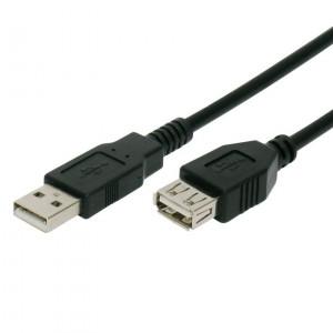Powertech καλωδιο προεκταση A/F USB 2.0V (480mbp/s) - 3m - BLACK