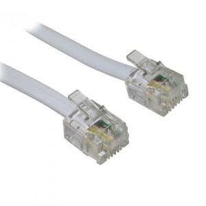 Power tech καλωδιο τηλεφωνου 4P4C σε ΓΚΡΙ χρωμα - 2Μ
