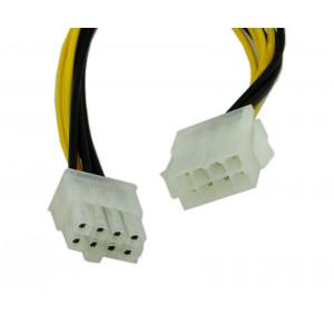 Powertech καλωδιο για MB 8pin αρσενικο σε 8pin θηλυκο, 20cm