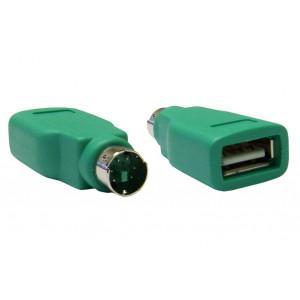 Power tech adapter θηλυκο USB 2.0 σε αρσενικο PS2