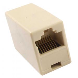 Powertech RJ 45 εξάρτημα UTP, ( μούφα),θηλ/θηλ,8p8c, λευκό