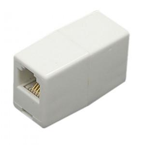 Powertech τηλεφωνικο εξαρτημα, ( μουφα),6p4c, RJ11 - WHITE