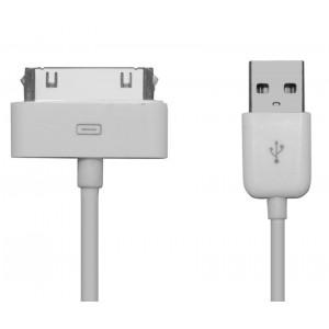 Powertech καλωδιο USB 2.0 Α to IPAD & I PHONE 4/4S - 1m - WHITE