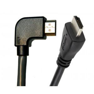 Powertech HDMI (Μ) 19pin 1.4V, 1.5m, 90°, left